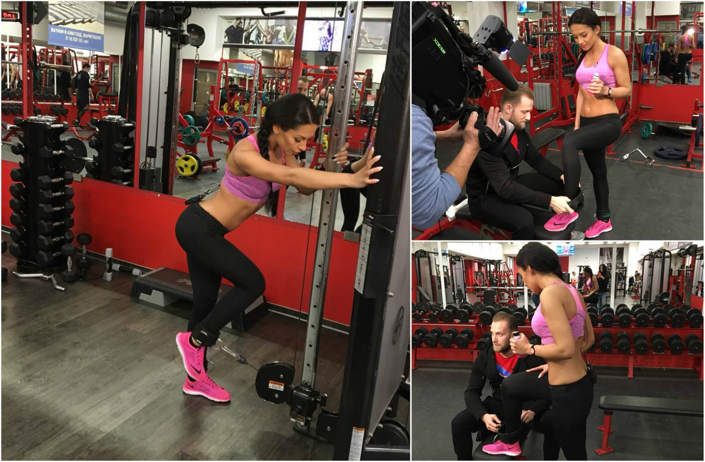 Джулия показва своя фитнес режим
