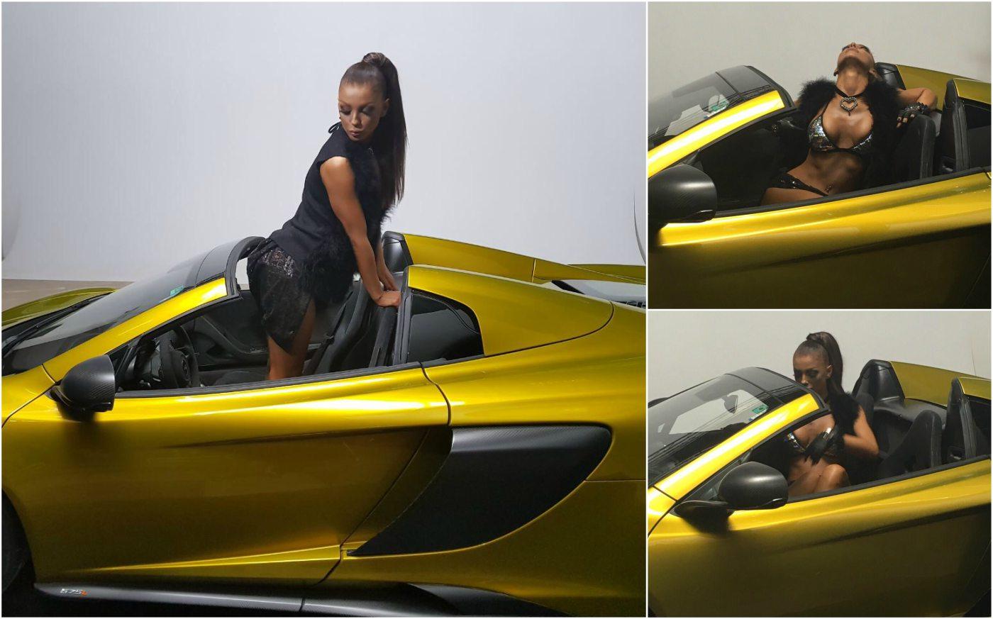 Уникален McLaren пристигна за снимките на новия клип на Емануела
