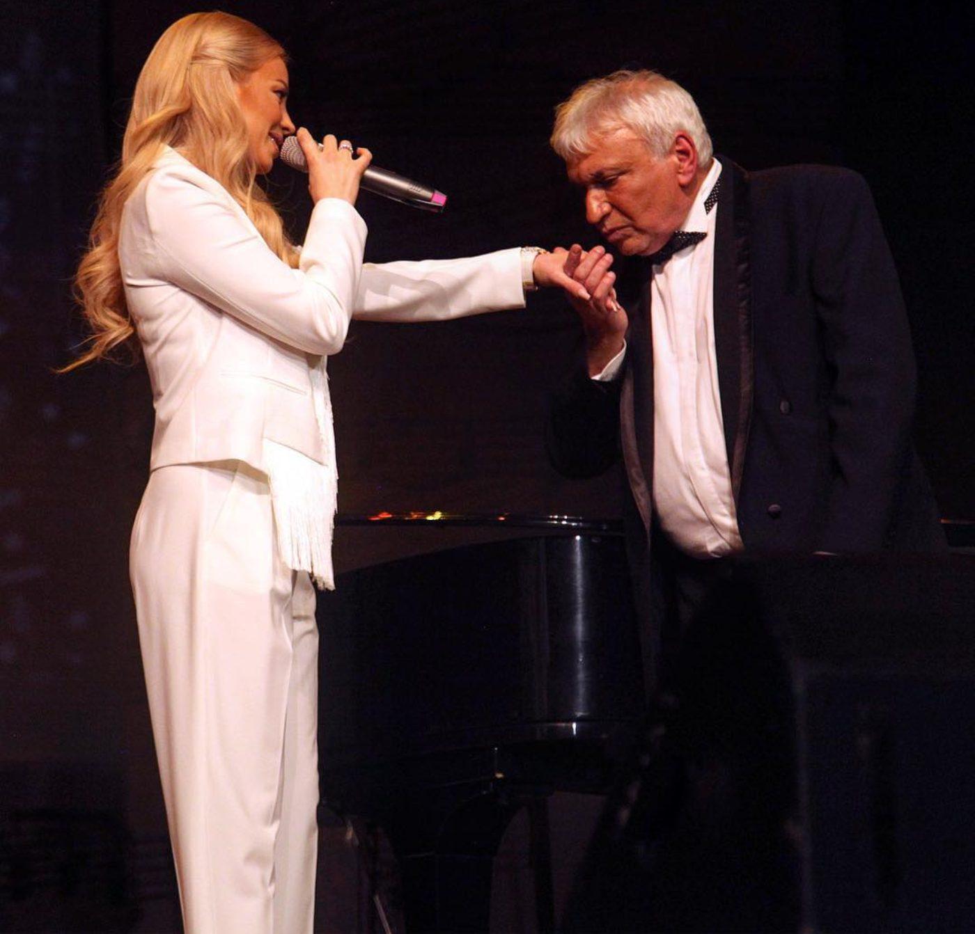 Емилия пя на юбилейния концерт на Стефан Димитров