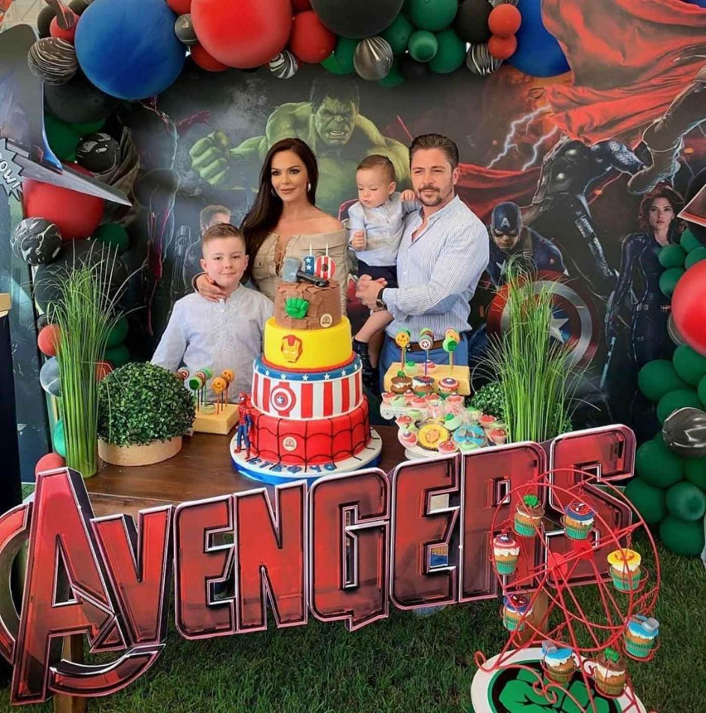 Галена и Галин с Avengers парти за празника на Стефан