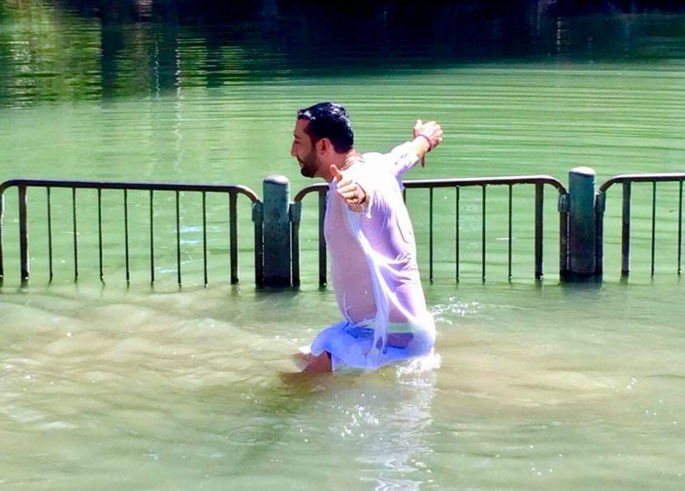 Илиян получи Свето Кръщение в река Йордан