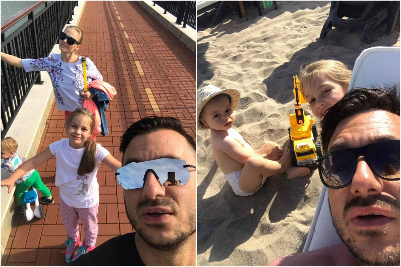 Константин с деца на море