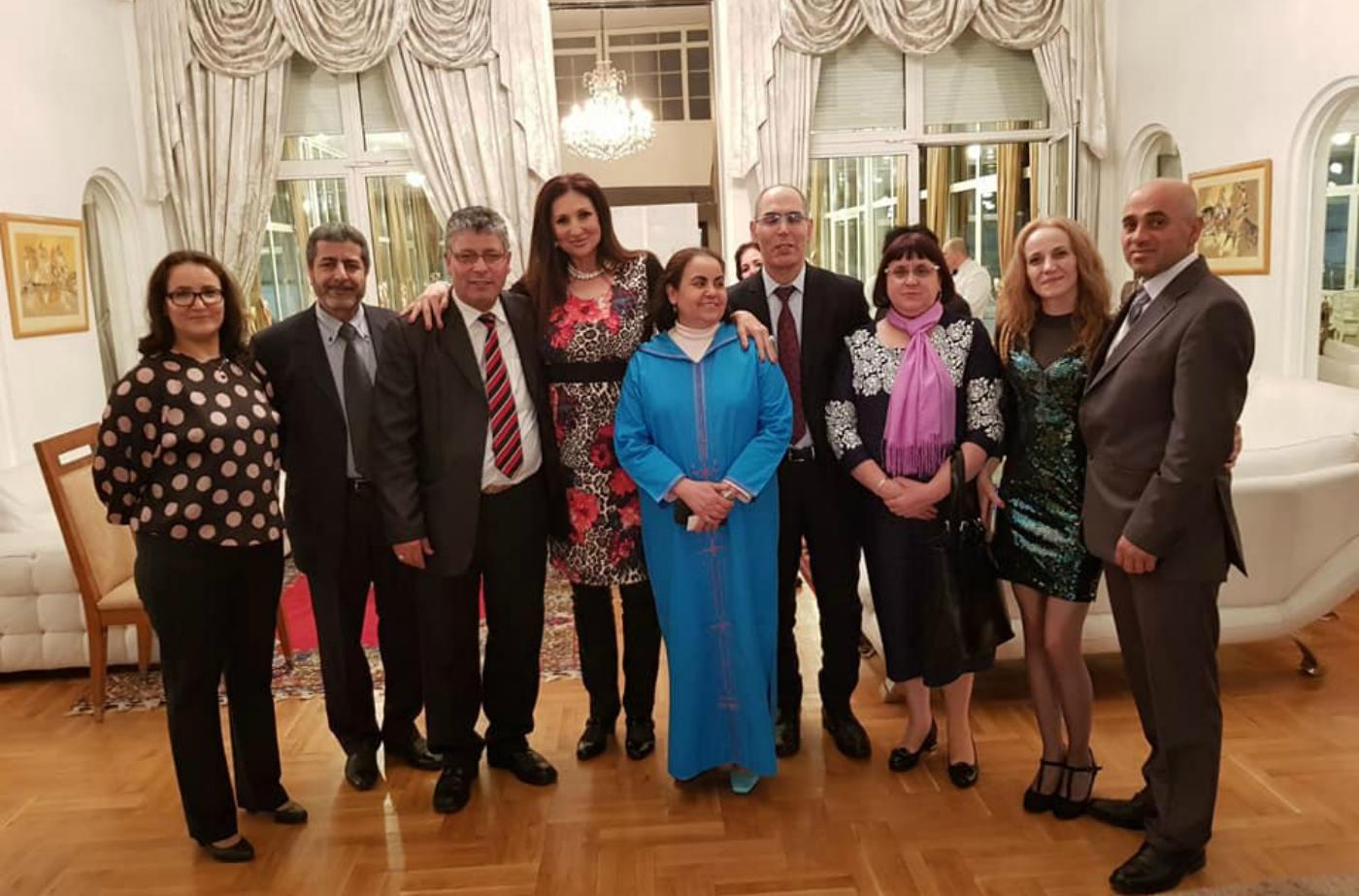 Поли Паскова - гост на посланика на Кралство Мароко