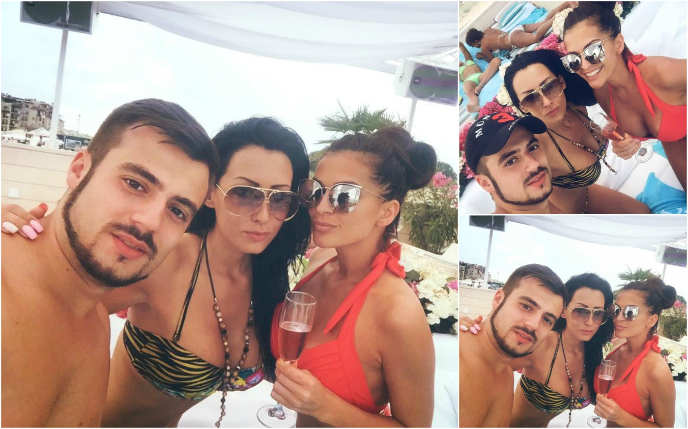 Преслава празнува с Джена и Атанас Стоев край морето