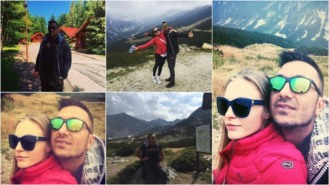 Константин и Надя релаксират в планината